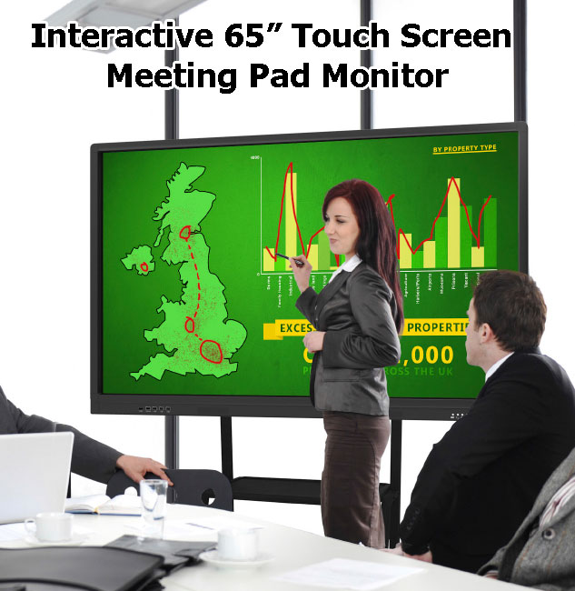 65-inch-touch-screen-meeting-pad-interactive-monitor-hire