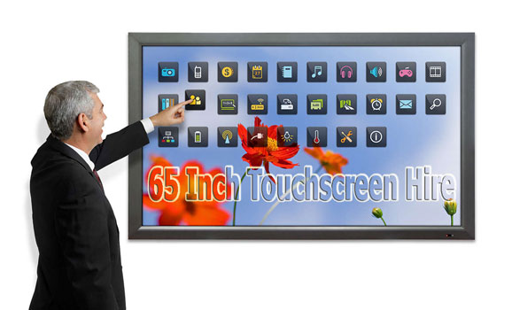 65-inch-touchscreen-hire-uk-exhibition