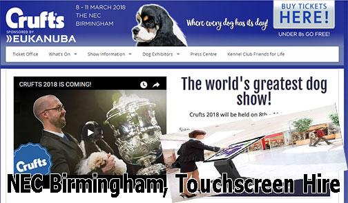 Birmingham NEC Exhibition centre Flat Touchscreen Table Hire